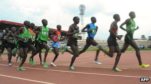 Running event at the Nyayo Stadium in Nairobi in 2012