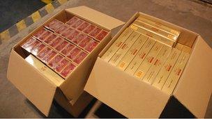 Contraband cigarettes