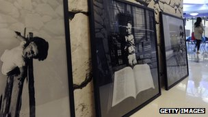 Photographs from The Silent Strength of Liu Xia exhibition at the City University Hong Kong