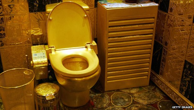 Gold toilet
