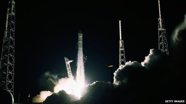 Space station rocket takes off