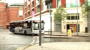 Bus lane Leicester