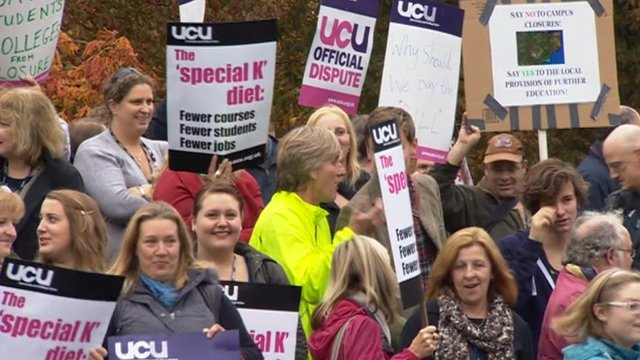 K College protest