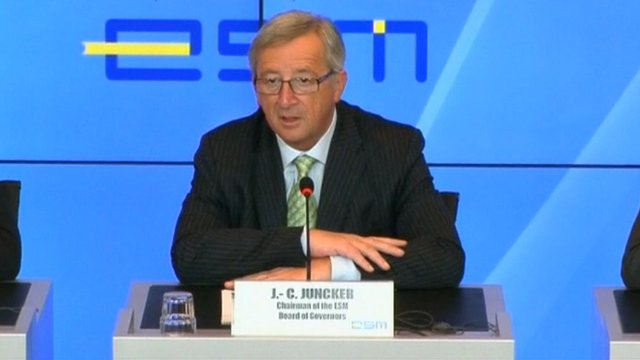 Claude Juncker, the Prime Minister of Luxembourg and chair of the Eurogroup.