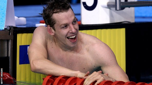 Scottish swimmer David Carry