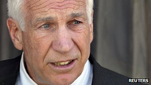 Jerry Sandusky in Bellefonte, Pennsylvania 19 June 2012