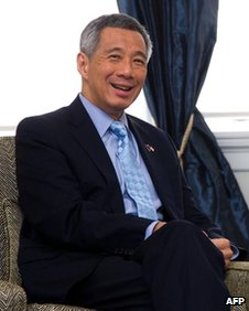 Singapore Prime Minister Lee Hsien Loong in Wellington, New Zealand on 8 October, 2012