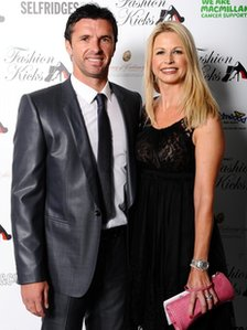 Gary Speed and wife Louise in May 2011