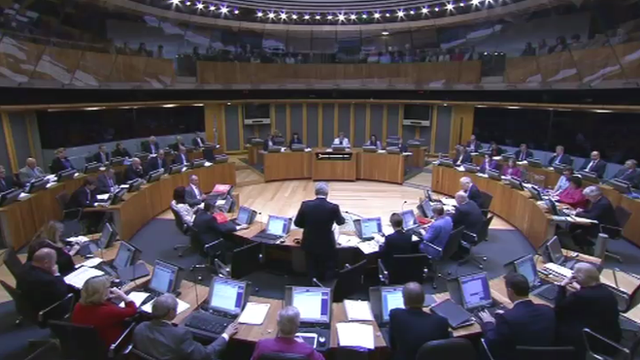 Plenary session at Senedd
