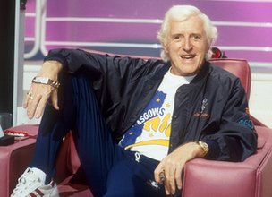 Jimmy Saville on the set of Jim'll Fix It