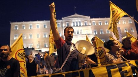 Protest in Athens, 8 Oct 2012