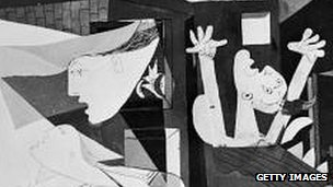 Part of Picasso's Guernica