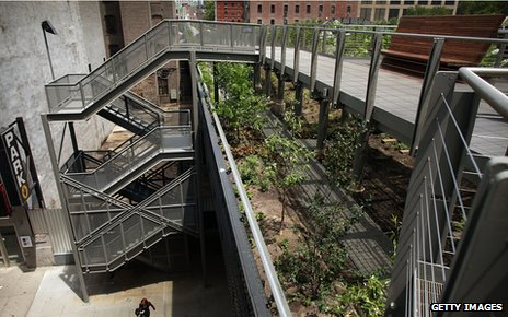 Section of High Line, New York