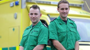 Andrew King (left) and Mathew Jones, St John Cymru Wales volunteers