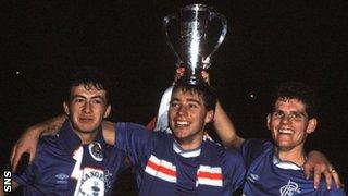 Derek Ferguson, Ally McCoist and Ian Durrant