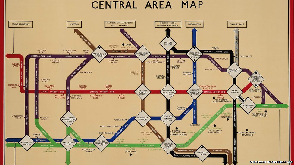 in pictures vintage london underground posters central area map