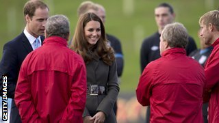 The Duke and Duchess of Cambridge were given a tour of the park