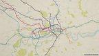 Tube map poster