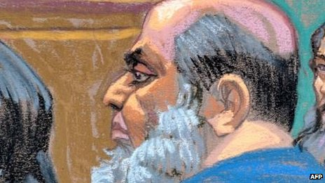 Khaled al-Fawwaz in court in New York (6 Oct)