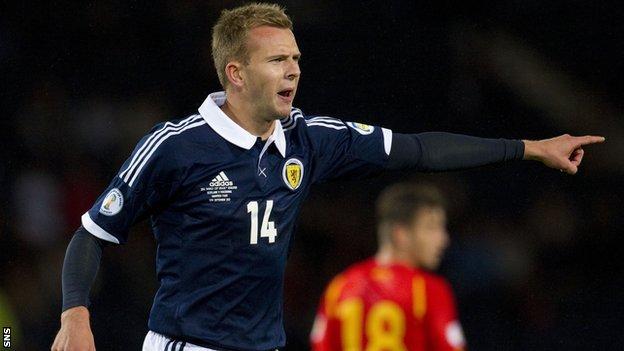 Scotland forward Jordan Rhodes