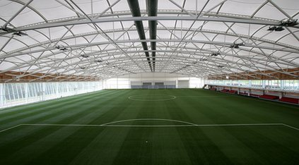 Football pitch in St George&#039;s Park