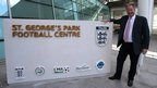 David Sheepshanks, chairman of St George&#039;s Park, outside the entrance