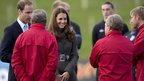 The Duke and Duchess of Cambridge at St George&#039;s Park