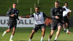 England players training at St George&#039;s Park