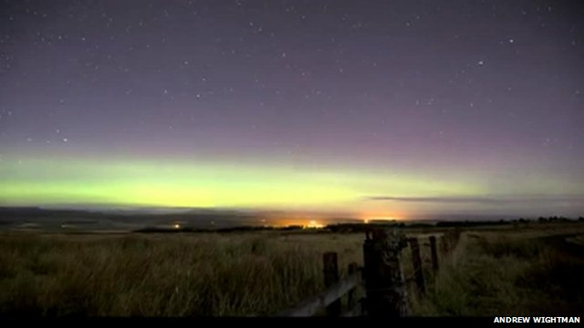 The Aurora Borealis over Sheriffmuir