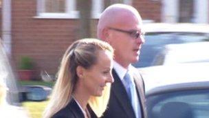 Caroline and David Hereward leaving court