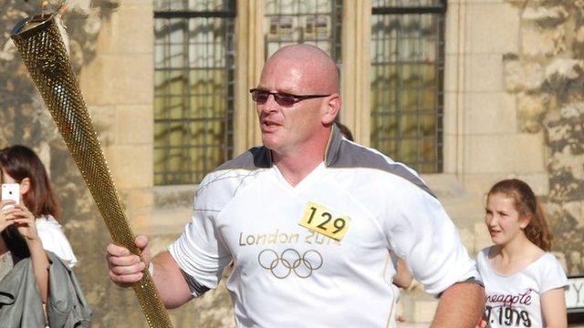 David Hereward was nominated as a torchbearer for his good work with a judo club