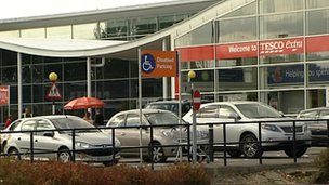 Car park at Tesco in Bar Hill