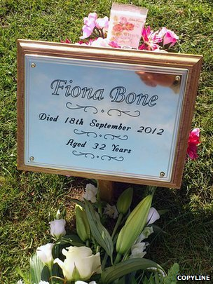 Plaque for Fiona Bone