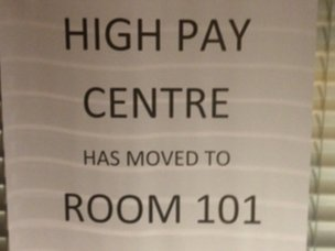 High Pay Centre sign