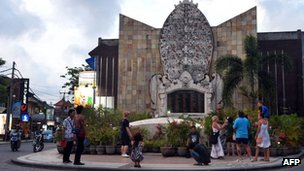 Ground zero monument in Kuta, Bali, 7 October 2012