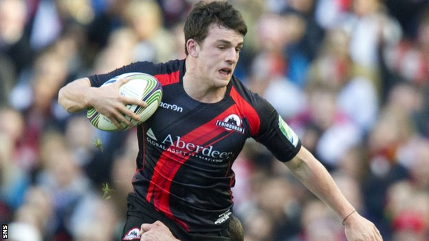 Matt Scott in action for Edinburgh