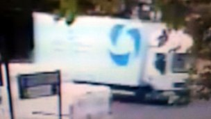 CCTV of lorry being sought by police