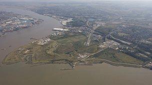 Aerial image of Swanscombe Peninsula