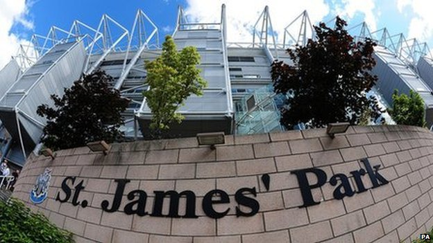 St James Park sign
