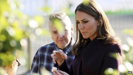 Duchess in community garden