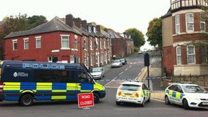 Police cordon on Burngreave Road