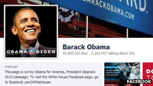 Barack Obama Facebook page