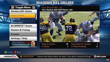 Obama ad placed in Madden NFL 13