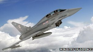 RAF's advanced Typhoon fighter jet