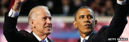 Joe Biden (l) and Barack Obama (r)