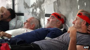 Albanian hunger strikers, 8 Oct 12