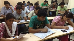 Students taking extra classes for test