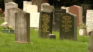 Oxford gravestones