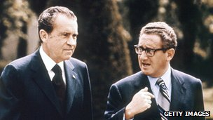 Richard Nixon and Kissinger