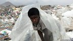 Boy from Yemen's al-Akhdam minority group works at the al-Maklaab landfill site